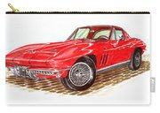 Ruby Red 1966 Corvette Stingray Fastback Carry-all Pouch
