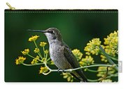 Ruby Throated Hummingbird 1 Carry-all Pouch