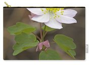 Rue Anemone Wildflower - Pink - Thalictrum Thalictroides Carry-all Pouch