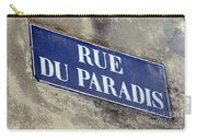 Rue Du Paradis Street Sign Carry-all Pouch