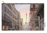 Rue Saint Dominique Sunset Through Eiffel Tower   Carry-all Pouch