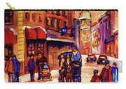 Rue St. Paul Old Montreal Streetscene In Winter Carry-all Pouch