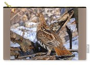 Ruffed Grouse On Alert Carry-all Pouch