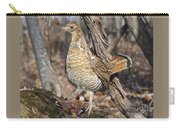 Ruffed Grouse On Mossy Log Carry-all Pouch