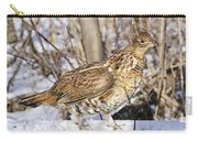 Ruffed Grouse On Snowy Log Carry-all Pouch