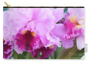 Ruffled Orchids Carry-all Pouch