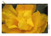 Yellow Ruffled Parrot Tulip Flower Carry-all Pouch