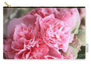 Ruffly Pink Hollyhock Carry-all Pouch