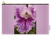 Ruffly Purple Orchid Closeup Carry-all Pouch