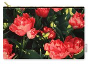 Ruffly Red Tulips Square Carry-all Pouch