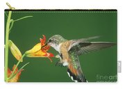 Rufous Hummingbird At Tiger Lily Carry-all Pouch