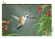 Rufous Hummingbird Female At Monkey Carry-all Pouch