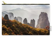 Rugged Cliffs And A Monastery  Meteora Carry-all Pouch