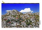Rugged Cliffside Village Digital Painting Carry-all Pouch
