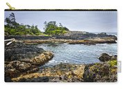 Rugged Coast Of Pacific Ocean On Vancouver Island Carry-all Pouch