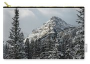 Rugged Mountain Peak With Snow Carry-all Pouch