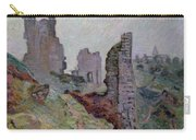 Ruins In The Fog At Crozant Carry-all Pouch by Jean Baptiste Armand Guillaumin