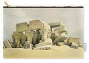 Ruins Of The Temple Of Kom Ombo Carry-all Pouch by David Roberts