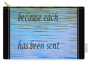 Rumi Quote 2 - Grateful - Guide Carry-all Pouch by Barbara Griffin