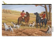 Run Fox Run Hunting Painting Commission Carry-all Pouch