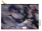 Runners Along Street In A Marathon Blurred And Abstract Carry-all Pouch