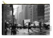 Running In The Rain - New York City Street Scene Carry-all Pouch