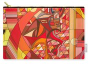 Running Of The Bulls Carry-all Pouch by Christopher Page