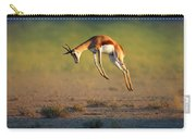 Running Springbok Jumping High Carry-all Pouch by Johan Swanepoel