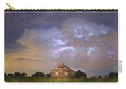 Rural Country Cabin Lightning Storm Carry-all Pouch by James BO  Insogna