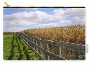 Rural Landscape With Fence Carry-all Pouch