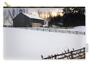 Rural Winter Landscape Carry-all Pouch by Elena Elisseeva