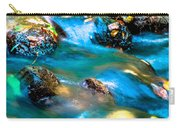 Rushing Water Over Fall Leaves Carry-all Pouch