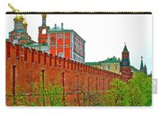 Russian Orthodox Church From Park Outside The Kremlin In Moscow-russia Carry-all Pouch