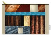 Rust And Rocks Rectangles Carry-all Pouch