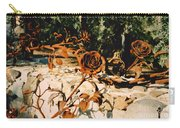 Rust And Roses Carry-all Pouch