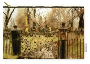 Rusted Cemetery Gate Carry-all Pouch