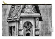 Rustic Birdhouse - Bw Carry-all Pouch