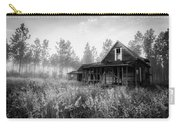 Rustic Historic Woodlea House - Black And White Carry-all Pouch