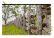 Rustic Home Made Split Rail Fence In The Mountains Of North Caro Carry-all Pouch by Alex Grichenko