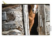 Rustic Horse Scene Carry-all Pouch