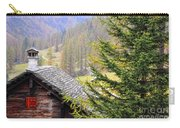 Rustic House And Tree Carry-all Pouch