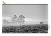 Rustic Morning In Black And White Carry-all Pouch
