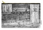 Rustic Old Colorado Barn Door And Window Bw Carry-all Pouch