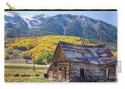 Rustic Rural Colorado Cabin Autumn Landscape Carry-all Pouch