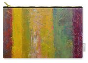 Rustic Stripes With Yellow Carry-all Pouch by Michelle Calkins