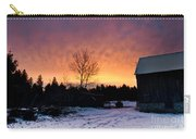 Rustic Winter Sunrise Carry-all Pouch