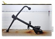 Rusty Black Boat Anchor By Sarasota Harbor Usa Carry-all Pouch
