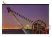 Rusty Davit And Two Lighthouses Carry-all Pouch by Semmick Photo