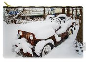 Rusty Jeep In Snow Carry-all Pouch