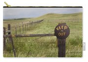 Rusty Keep Out Sign On Fence - California Usa Carry-all Pouch